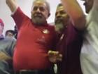Ex-presidente Lula participa de ato no Sindicato dos Bancários, em SP