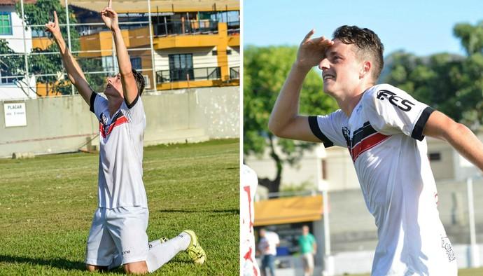 Fabiano vem se destacando no Serra com gols em cobranças de falta (Foto: Montagem sobre fotos de Adriano Barbosa/SD Serra FC)