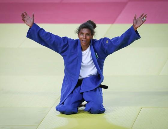 Rafaela Silva na luta de disputa pelo ouro contra Dorjsuren Sumiya, da Mongolia (Foto:  )