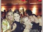 Alinne Rosa comemora aniversário com amigos famosos em São Paulo