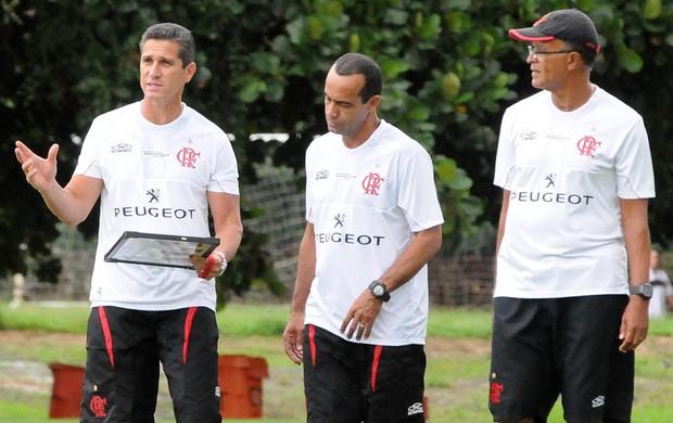 Jorginho Ailton treino Flamengo (Foto: Alexandre Vidal/Fla Imagem)