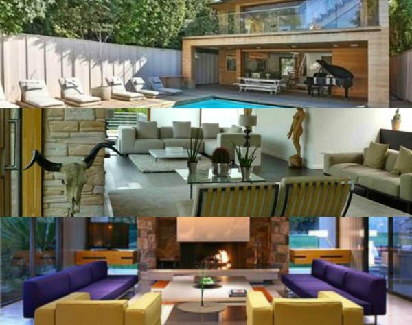 Casas de Pamela Anderson, Matt LeBlanc e Leonardo DiCaprio (Foto: Reprodução)