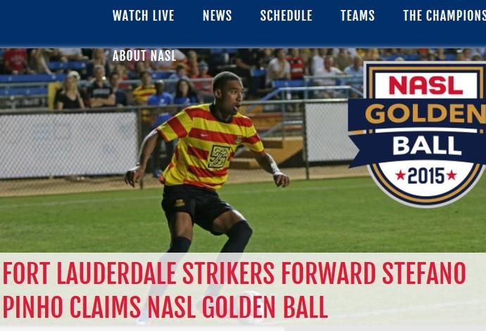 Stáfano Fort Lauderdale Strikers Boal de Ouro NASL (Foto: Reprodução/NASL)