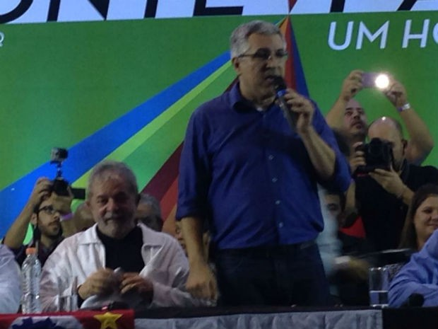 Lula e Alexandre Padilha (PT) visitam Sorocaba (Foto: Jéssica Pimentel/G1)