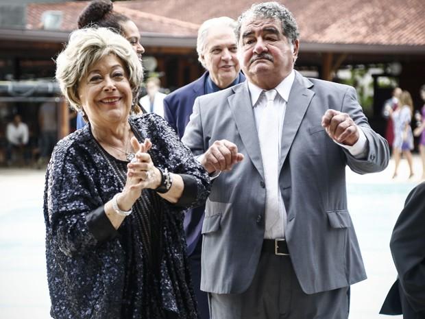 Marieta e Vicente provaram que o amor acontece na melhor idade (Foto: Raphael Dias/ Gshow)