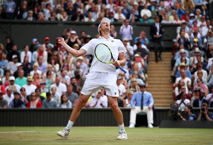 Sam Querrey eliminou Andy Murray e está nas semifinais em Wimbledon (Foto: Clive Brunskill / Getty Imagesa )