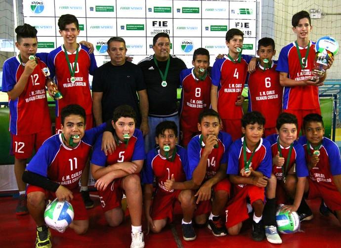 Escola Carlos Vilhalva, campeão masculino (Foto: Divulgação/FVMS)