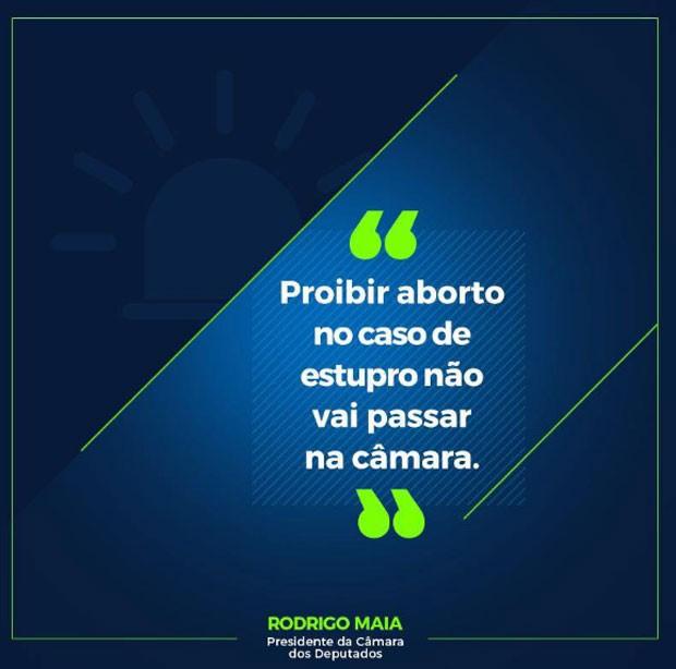 Rodrigo Maia fala sobre a PEC 181/2015 no Facebook  (Foto: Reprodução/Facebook)
