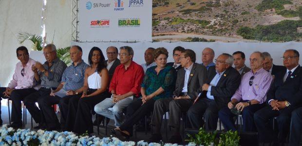 Solenidade de inauguração do Parque Eólico na Barra dos Coqueiros em Sergipe (Foto: Flávio Antunes/ G1 SE)