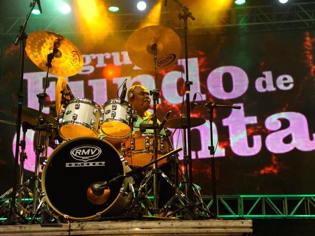 Baterista do Fundo de Quintal (Foto: Diego Moraes/ G1)