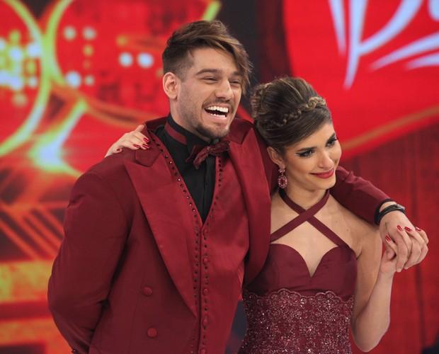 Lucas Lucco e Ana Paula Guedes ficaram superanimados com apresentação do foxtrote (Foto: Carol Caminha/TV Globo)