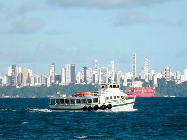 Travessia para Mar Grande opera com bom movimento neste sábado (Foto: Divulgação)