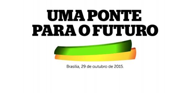 Trecho da página inicial do documento do PMDB (Foto: Reprodução / TV Globo)