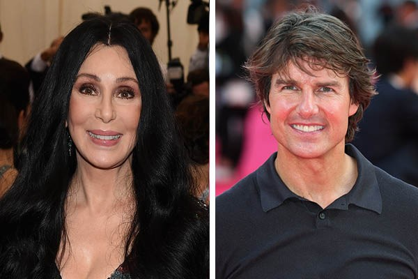 Cher e Tom Cruise' (Foto: Getty Images)
