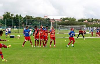 Com treinamento tático, Bahia encerra preparação para jogo contra o Paraná