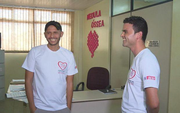 Gabriel Lopes recebeu doação de medula óssea de Márcio Franklin (Foto: Rondônia TV)