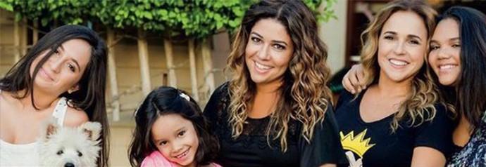 Daniela e Malu estimulam a individualidade das filhas não aceitam machismo (Foto: Arquivo Pessoal)