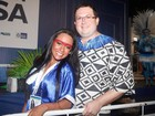 Raissa de Oliveira posa com marido:' Ele veio para tomar conta de mim'
