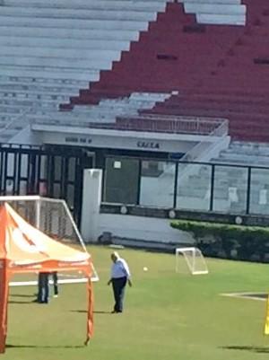 Eurico treino Vasco São Januário (Foto: Cahê Mota / GloboEsporte.com)