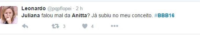 Comentário Anitta 3 (Foto: Reprodução Internet)