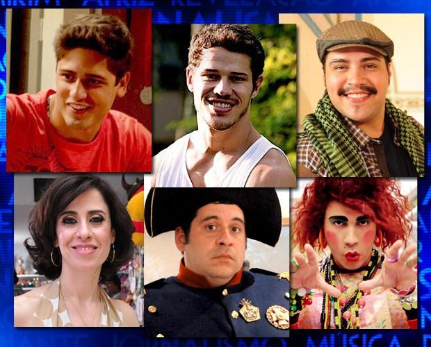 Arte duas categorias: melhor ator revelação e comédia1 (Foto: Domingão do Faustão / TV Globo)