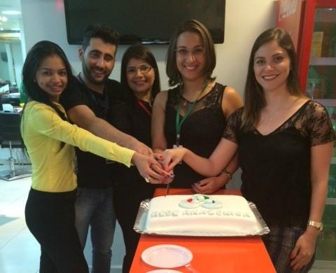 Executivos de vendas da Rede Amazônica Rondônia comemoram Dia Internacional da Mulher (Foto: Suéllen Lemos/ Rede Amazônica)