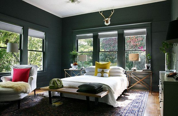 Decoração 10 quartos verdes e belos Casa Vogue Ambientes ~ Quarto Verde Com Vermelho
