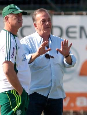 Luiz Felipe Scolari felipão palmeiras  Roberto Frizzo  galeano (Foto: Agência Estado)