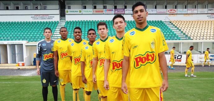 Mirassol, promovidos, Copa SP, Matheus Aurélio, Matheus Piauí, Douglas, Jardisson, Ícaro, Luís Oyama e Murilo (Foto: Vinícius de Paula / Ag. Mirassol)