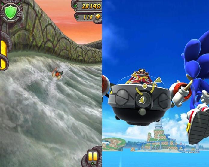 Temple Run 2 e Sonic Dash trabalharam bem no novo Moto E (Foto: Reprodução/Carol Danelli)