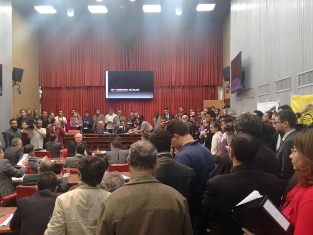 Deputado Marcos Zerbini, do PSDB, foi eleito presidente da CPI da Merenda (Foto: Roney Domingos/G1)