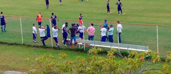 Anderson Talisca; Marcelo Sant'Ana; Bahia; treino (Foto: Rafael Santana)