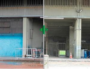 Antes e depois da demolição do Olímpico (Foto: Editoria de Arte/GLOBOESPORTE.COM)