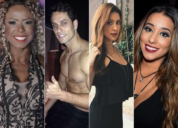 Adélia, Tamires, Elieser e Talita (Foto: AgNews/)