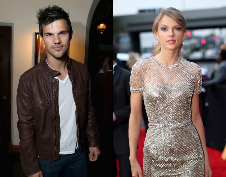 """Olha ela aí de novo! Os dois Taylor namoraram convenientemente durante a produção e lançamento do filme 'Idas e Vindas do Amor' (2010). Depois do rompimento, Swift ainda foi vista aplaudindo o """"lobisomem"""" numa cerimônia de premiações. Ela contou a Glamour: """"[Lautner é] um dos meus melhores amigos. Ele é maravilhoso e sempre seremos muito próximos. Sou muito agradecida por isso"""". (Foto: Getty Images)"""