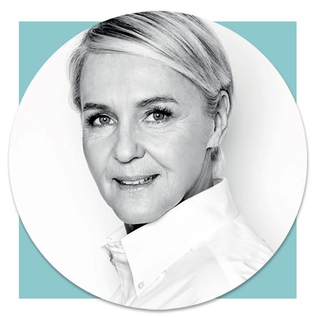 A francesa Christina Zeller, diretora artística da Delvaux (Foto: Divulgação e Reprodução)