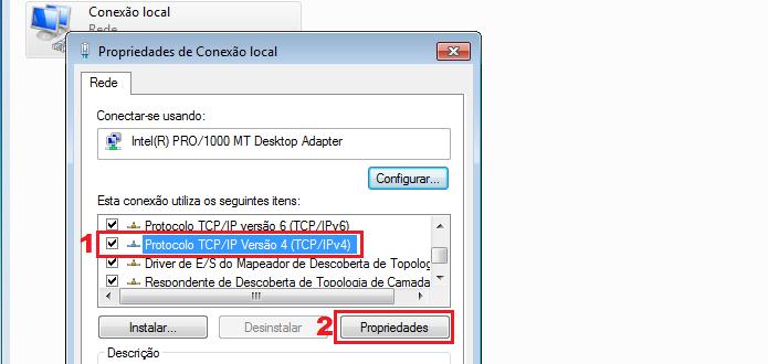 Acessando as propriedades TCP/IP do adaptador (Foto: Reprodução/Edivaldo Brito)