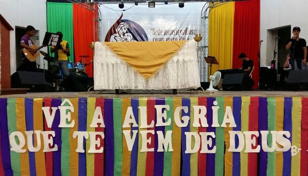 Alegria fez parte do tema do Rebanhão deste ano (Foto: Fábio Reis/TV Fronteira)