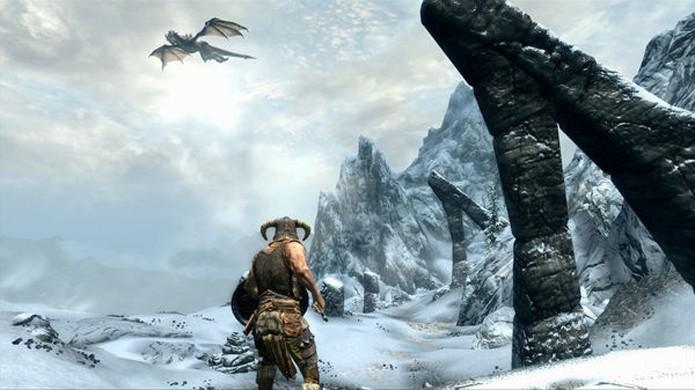 Viva uma grande aventura medieval e enfrente dragões no vasto mundo de The Elder Scrolls 5: Skyrim (Foto: Reprodução/Steam)