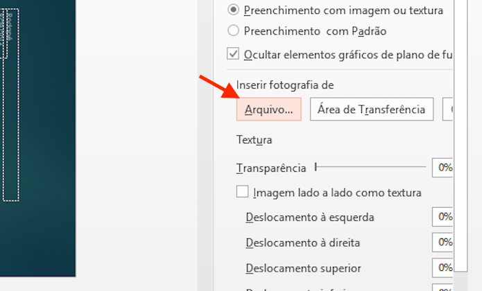 Iniciando a tela de busca por um arquivo de imagem no computador para usar como marca dàgua no Microsoft Powerpoint (Foto: Reprodução/Marvin Costa)