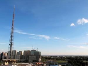 Torre de TV, no Eixo Monumental, em Brasília  (Foto: Jamila Tavares / G1)