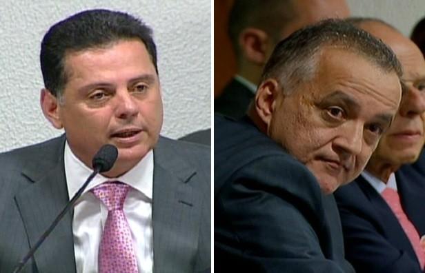 Marconi Perillo e Carlinhos Cachoeira Goiás (Foto: Reprodução/Globo News)