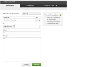 SendNow Adobe,compartilhar arquivos Illustrator, compartilhar arquivos Dreamweaver, compartilhar arquivos on line