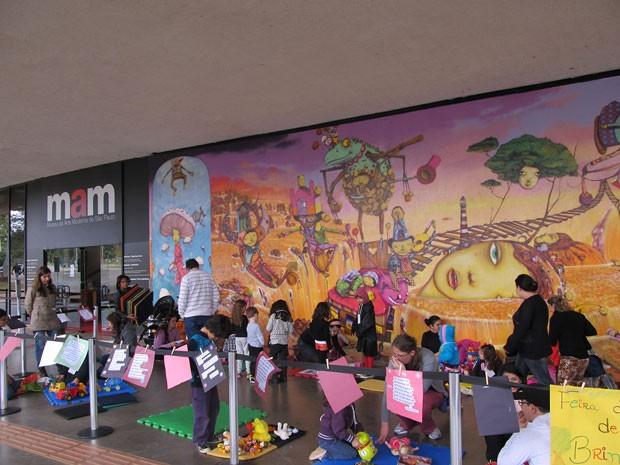 Feira de troca de brinquedos - MAM (Museu de Arte Moderna de São Paulo) (Foto: Divulgação)