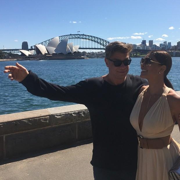 Fábio Assunção e Juliana Paes em Sydney, na Austrália (Foto: Instagram/ Reprodução)