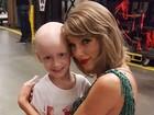 Taylor Swift conhece fã com câncer e realiza sonho da menina