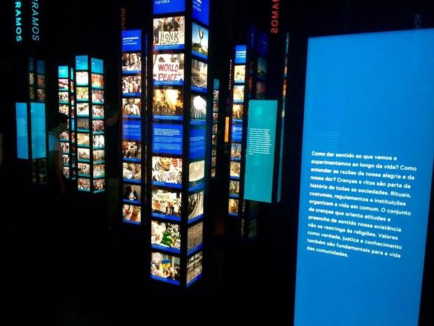 Uma das galerias do Museu do Amanhã (Foto: Lívia Torres/G1)