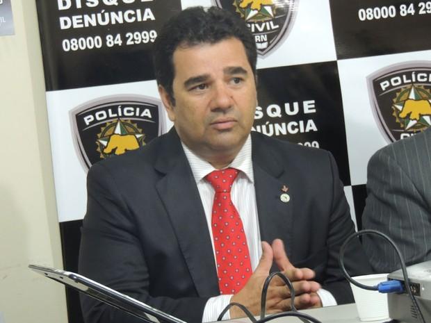 Delegado Geral da Polícia Civil do RN, Fábio Rogério da Silva (Foto: Felipe Gibson/G1)