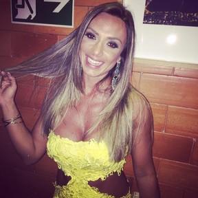 Nicole Bahls em festa de Hugo Gloss na Zona Sul do Rio (Foto: Instagram/ Reprodução)