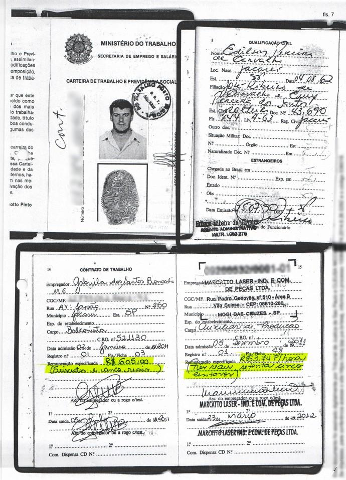 Carteira de Trabalho mafia do apito (Foto: Divulgação)